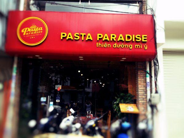 entrance of pasta paradise