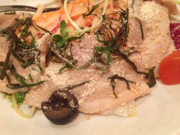 SALAD~サラダ~ BUTANIKU & DAIKON MENTA SALAD 〜豚肉と大根の明太子サラダ〜 140,000VND(=約700円)