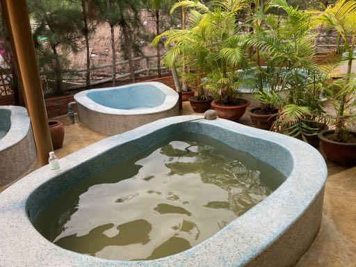 ↑ハーブの温泉の様子↑